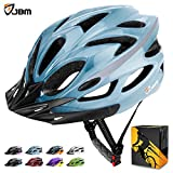 JBM international JBM Adult Cycling Bike Helmet Specialized for Mens Womens Safety Protection Red/Blue/Yellow (Gradient Blue, Adult)