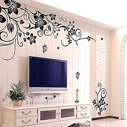 Decal Room Decor (Wall Stickers, Franterd Grand Removable Vinyl Mural Decal Art Home Decor Painting Supplies- Flowers)