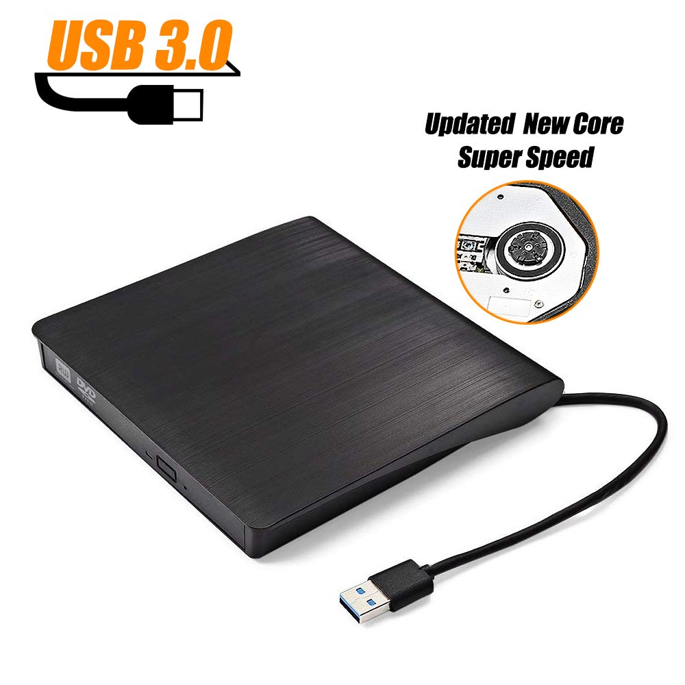 External DVD Drive, GBTIGER USB 3.0 Portable External DVD CD Drive, Burner High Speed Data Transfer USB dvd Player for Desktop Laptop Support Windows XP/2003/8/Vista/7, Linux, Mac 10, OS  System