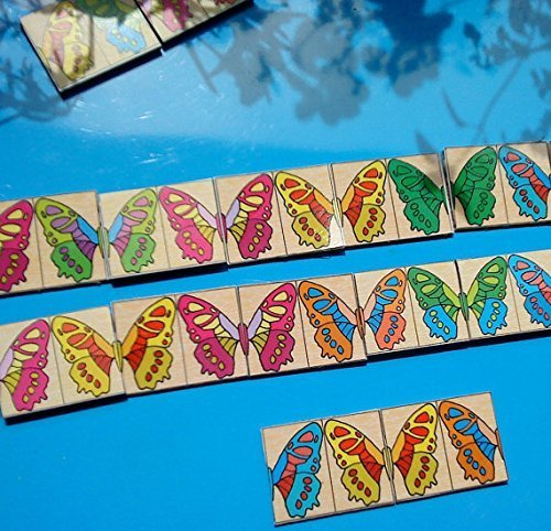 Butterfly Dominoes (Butterflies Domino for toddler.)