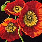 Dimensions Needlecrafts Needlepoint,  Red Poppy Trio