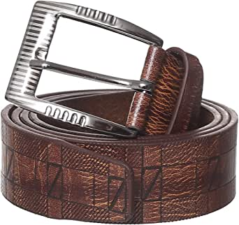 DH Genuine Leather Single Metal Tongue Buckle Classic Belt for Men - 2725607567425