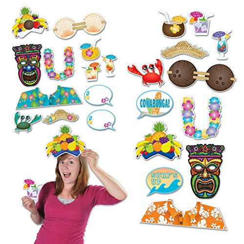 beistle luau photo fun signs 514 by 1814 inch multicolor - Luau Decorations
