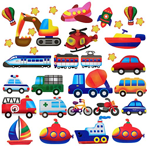 Decal Great Planes Set (DaGou Transports Wall Stickers and Stick Removable Wall Stickers for Kids Nursery Bedroom Living Room)