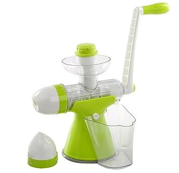 migecon Manual exprimidor frutas verduras exprimidor manual máquina para helados manual manivela único Auger exprimidor con base de ventosa: Amazon.es: ...