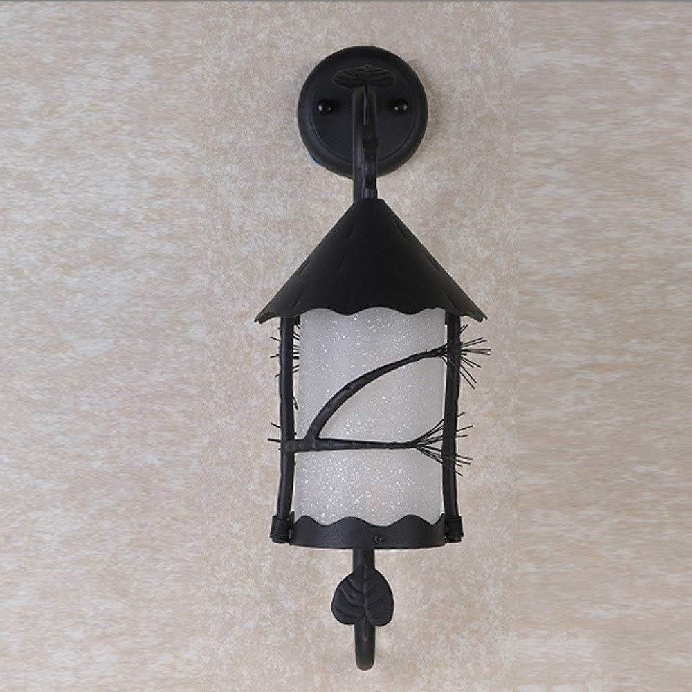 TBFEI レトロ農村ヴィンテージレストランバーブラックメタルインダストリアルライトエジソン屋外ウォールランプスクエア防水サンルーム壁の風景庭通路通路装飾イノベーション壁ライト