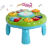Musical Activity Table Baby Toy - Toddlers Educational Toys with Piano Pat Drum Light Up for Baby Infant (Green)