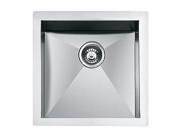 Teka - Fregadero Nodor QUA 100, Universal, 1 Cubeta cuadrada ...