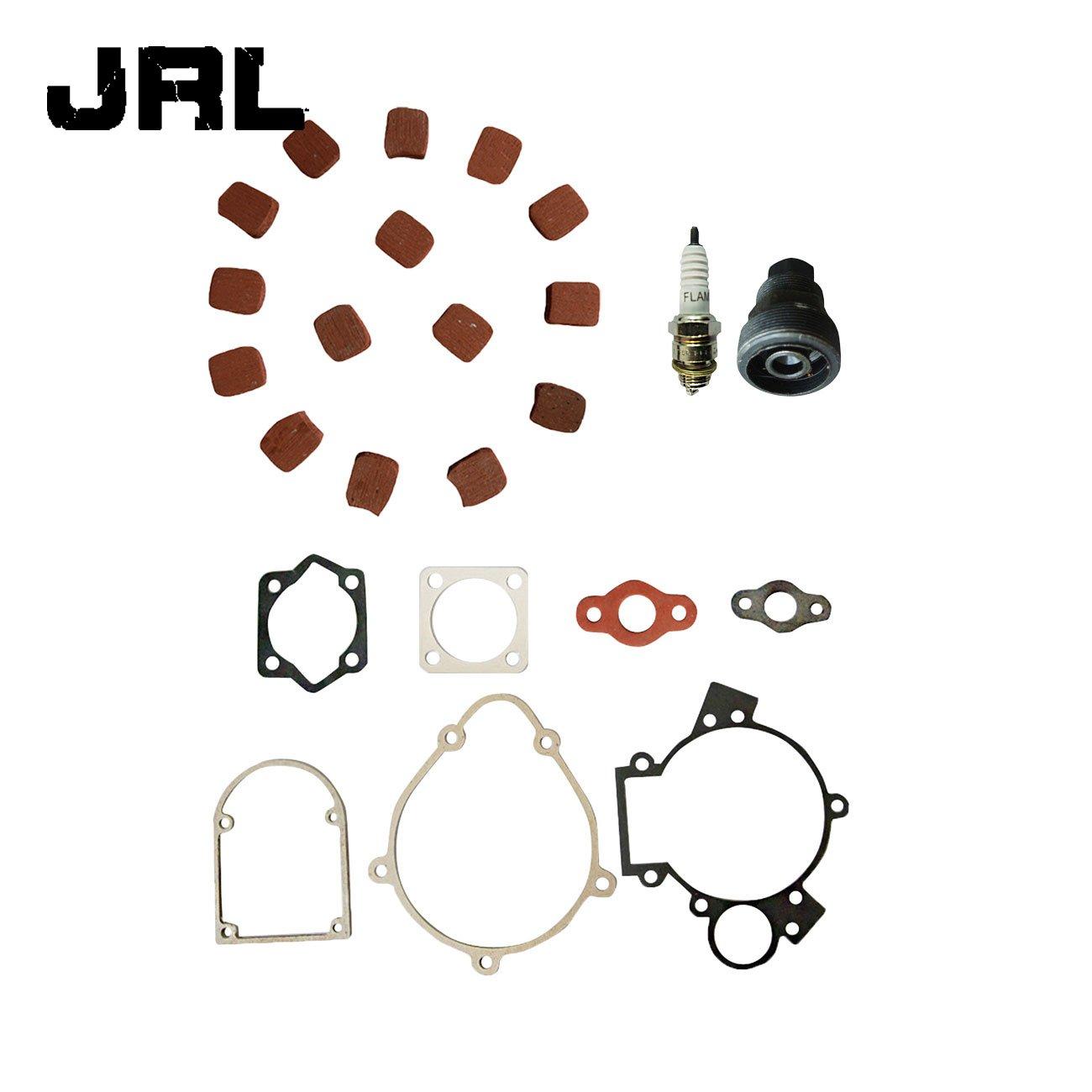 JRL 15xSquare Clutch Pads&Gasket Kit&Clutch Nut For 49cc 66cc 80cc Motorized Bike Nantong Power