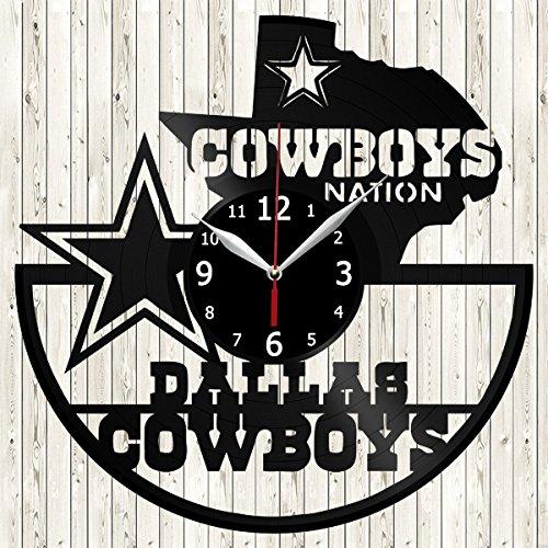 (Dallas-Cowboys Vinyl Record Wall Clock Decor Handmade Unique Design Original Gift)
