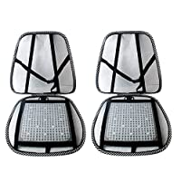 SMAMS  ® Almohada de Lumbar de Apoyo Trasero de la Cintura para Sillas de Cojin de Asiento Almohada Corrector de Postura Negro
