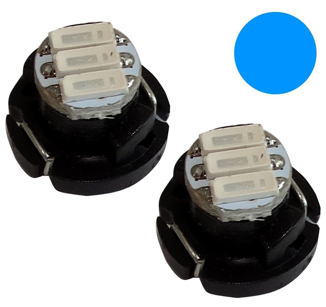 AERZETIX: 2x Bombillas T4.2 3LED SMD 12V 1W luz azul para salpicadero C19694 C19694 : HE37 x2