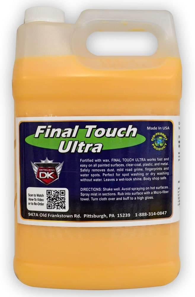 Detail King Final Touch Ultra Express Car Wax Spray - All Surface, Protect & Shine, Dry Wash Wax 1 Gallon
