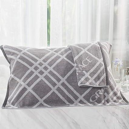 YaNanHome Almohada de algodón Toalla Engrosamiento Toalla Almohada Grande y Suave algodón par Almohada Toalla Doble