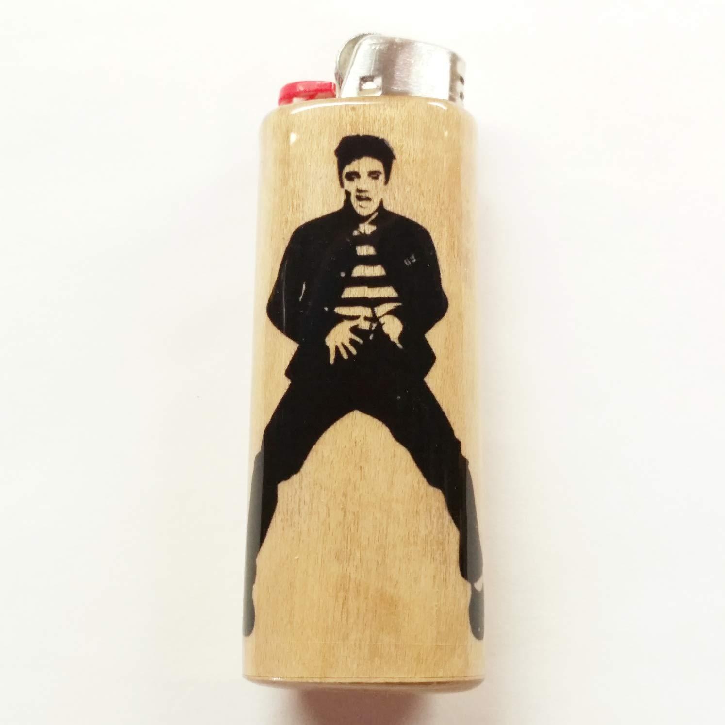 Elvis Presley Lighter Case Holder Sleeve Cover Fits Bic Lighters by Wood Lighter Cases, LLC