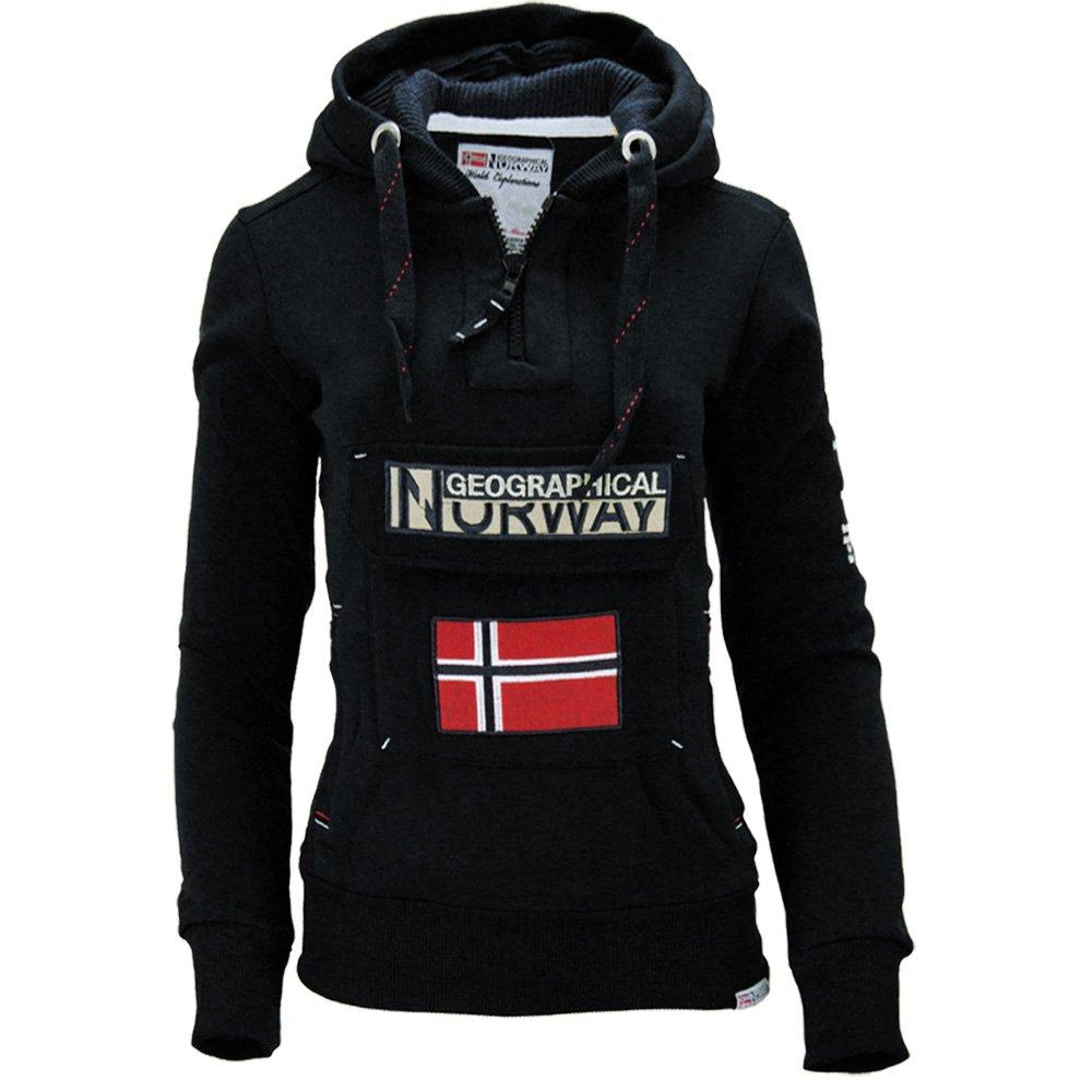 Femme Manches Longues Sweat /à Capuche Uni Geographical Norway