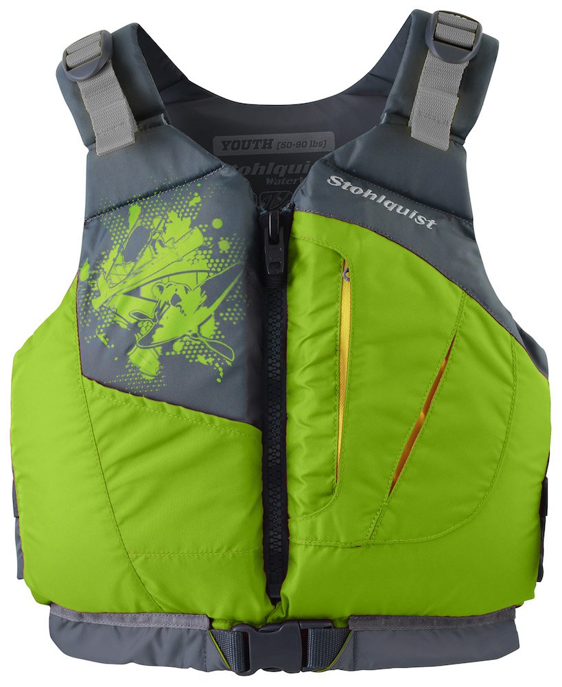Stohlquist Youth/Adult Small Escape PFD 75-125 lbs, Lime by Stohlquist Waterware