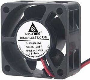 GDSTIME 40mm Brushless Cooling Fan, 40mm x 40mm x 20mm 24V Dc Fan 6000RPM