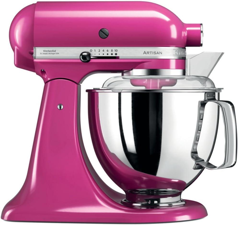 KitchenAid Artisan - Robot de cocina (4,8 L, Rosa, palanca, 220 RPM, 1,454 m, AC)