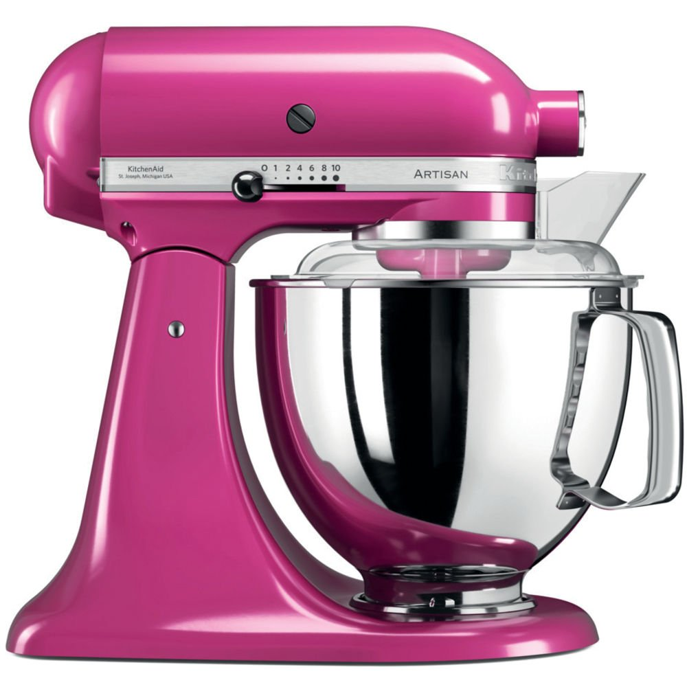 KitchenAid Artisan 5KSM175PSECB 5 Qt.Stand Mixer Cranberry with TWO Bowls & Flex Edge Beater 220 VOLTS NOT FOR USA