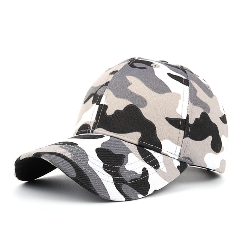 Hemlock Hats Camouflage Sport Caps,Hemlock Outdoor Sun Cap Fishing Hat Snapback Baseball Cap Adjustable Beach Hats (Black)