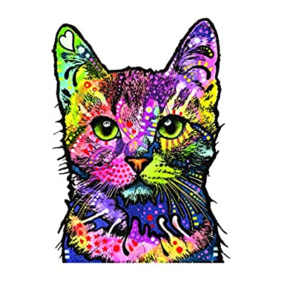 Cat Fan related Products Enjoy It Dean Russo Cat Car Sticker, Outdoor Rated Vinyl Sticker Decal for Windows, Bumpers, Laptops [tag]