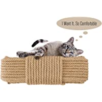 Aoneky Replacement Cat Scratching Post Sisal Rope - Hemp Rope for Cat Tree and Tower (1/4'' 66 Ft)