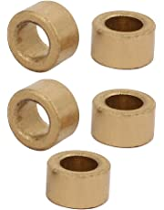 uxcell 5PCS 6mm x 10mm x 6mm Size Self-lubricating Bushing Sleeve Copper Bearings