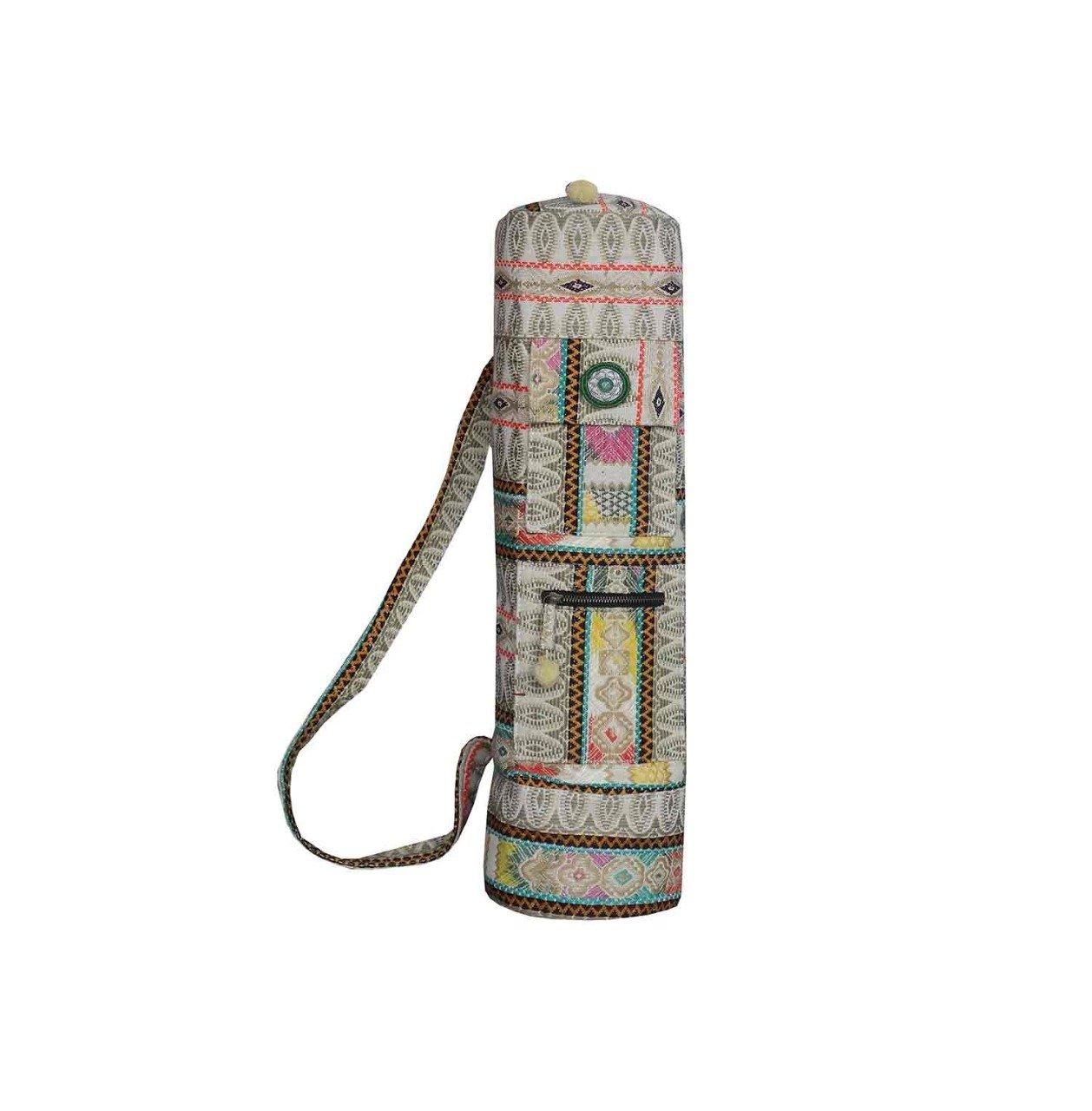 Amazon.com: tela a mano indio bolsa para esterilla de yoga ...