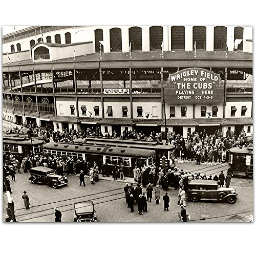 (Lone Star Art Wrigley Field - Home of The Cubs - 11x14 Unframed Print - Great Sports Bar Decor and Gift Under $15 for Baseball)