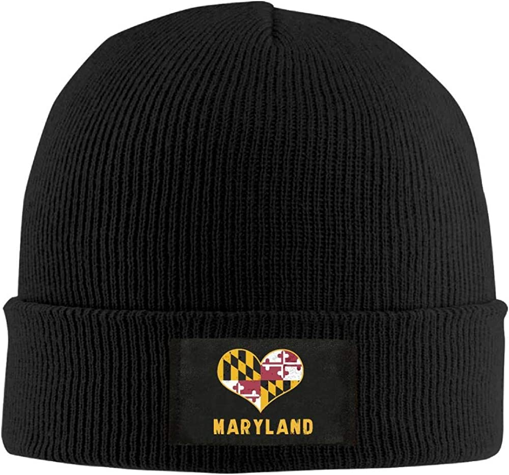 DLOAHJZH-Q Adult Unisex Maryland State Flag Outdoor Beanies