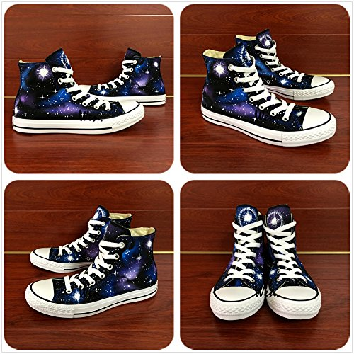 Wen Original Design Galaxy Nebula Handgeschilderde Schoen Unisex Canvas Volwassen Sneakers