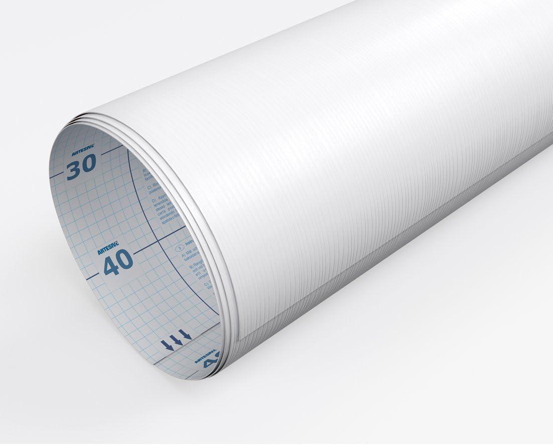 Artesive WD-065 Legno Bianco larg Pellicola Adesiva Legno 30 cm x 2,5 mt