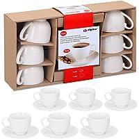 Alpina 871125285358–Set de Tazas de Espresso con Platos