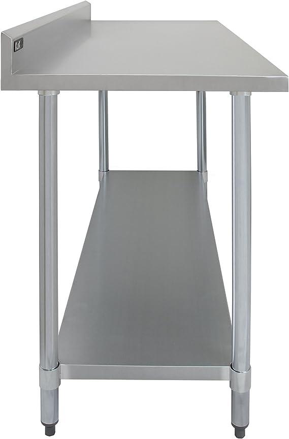 Kukoo -Mesa de Trabajo de Acero Inoxidable, Mesa de Cocina para ...