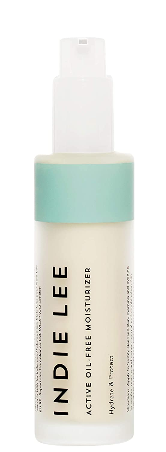 Indie Lee Active Oil-Free Moisturizer - Hydrating Cream with Antioxidants + Vitamin C to Help Brighten + Smooth Visibly Dy, Aging Skin for a Luminous Glow (1.7oz / 50ml)