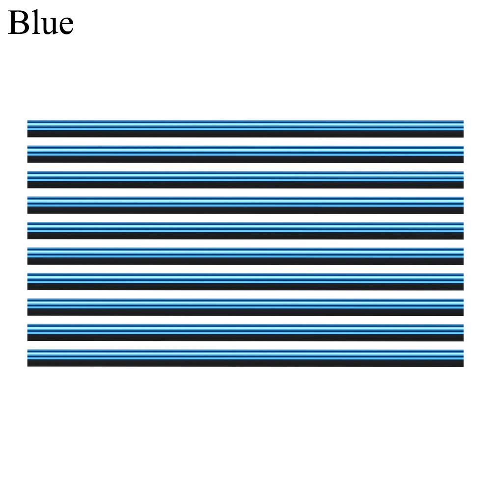 Blue Eadorns 10x Car Air Conditioner Outlet Vent Grille Decoration U Shape Molding Trim Strip