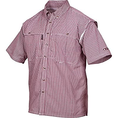 Drake Wingshooter Short Sleeve Gingham Plaid Shirt - Navy