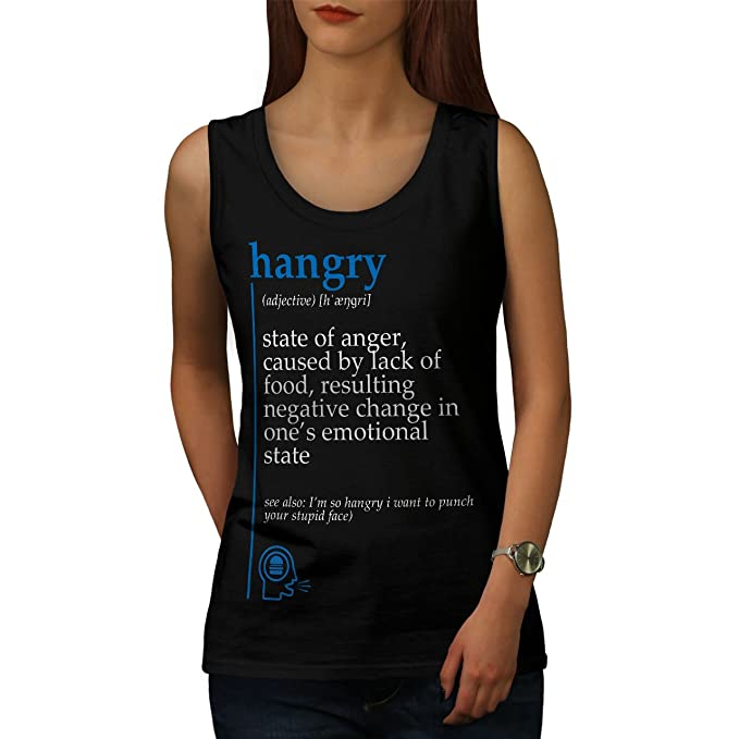 921f3677859965 Amazon.com  wellcoda Hangry Anger Womens Tank Top