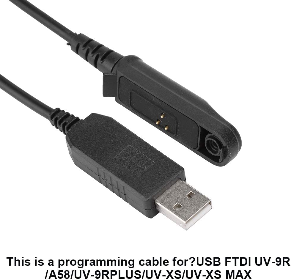 Leyeet Programming Cable for USB FTDI UV-9R//A58//UV-9RPLUS//UV-XS//UV-XS MAX