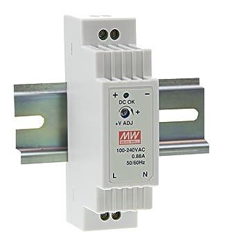MeanWell DR-15-5 15W 5V 2.4A DIN-Rail Interruptor Fuente de