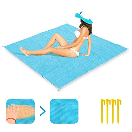 Sand Free Waterproof Beach Mat Fun Camping Mat Outdoor Rug Picnic Mattress Magic Pad Sports & Entertainment