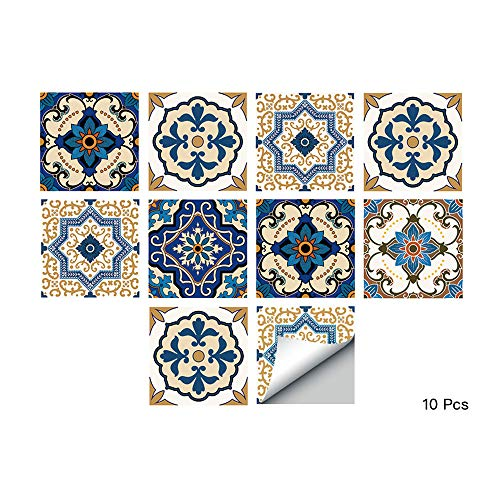 alwayspon Waterproof Vinyl Wall Tiles Sticker for Home Decor, Self-Adhesive Peel and Stick Backsplash Tile Decals for Kitchen Bathroom Decor, 6x6inch 10 ()
