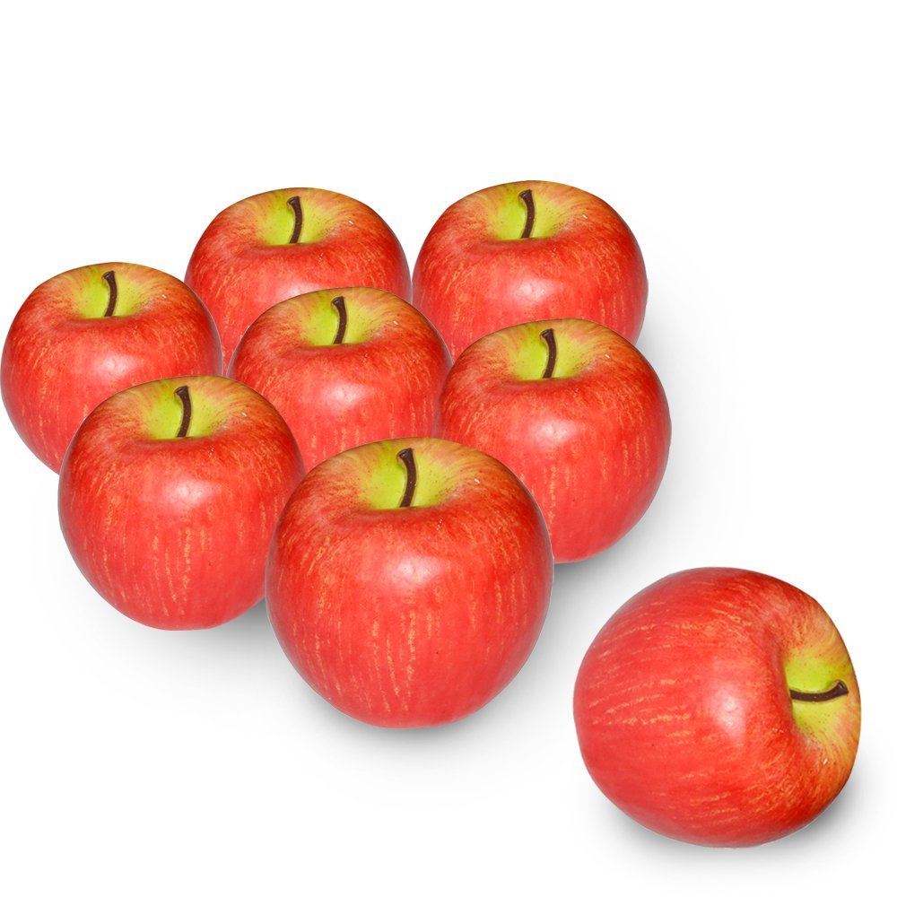 8 Pcs Foam Artificial Lifelike Simulation Solid Apple Model Fake Fruit for Home Decoration Green Gosear