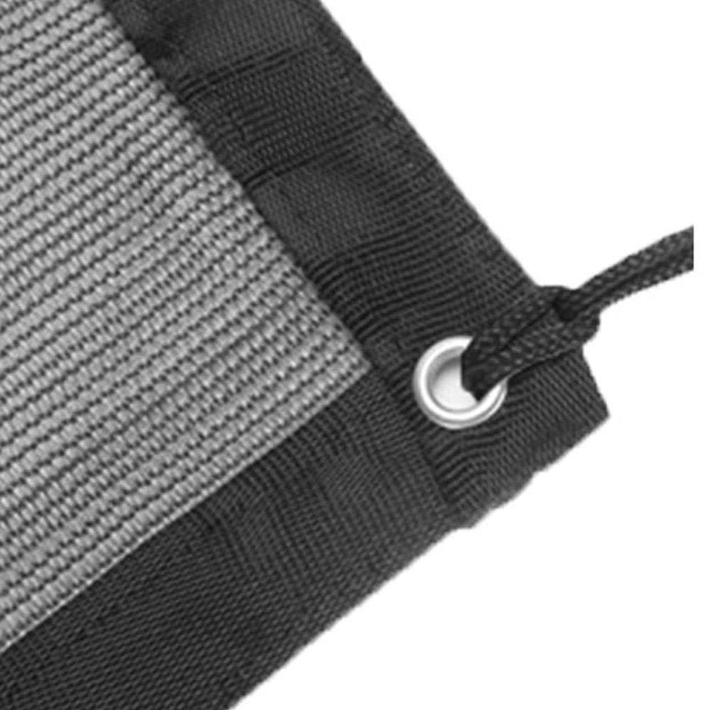SHIJINHAO シェードセイル オーニングシェード遮光ネット サンネットワーク アンチUV 工場 影 保湿 エッジバンディング メタルホール ポリエチレン、7サイズ (Color : Black, Size : 6x4.3m) B07TCGLCSB Black 6x4.3m