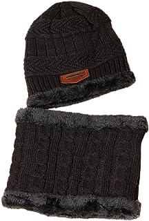 VORCOOL Enfants Hiver Chapeau Chaud écharpe tricotée Bonnet Coupe écharpe en Tricot de Neige Infinity Foulard garçons Filles Filles Casquette Enfants (Gris)