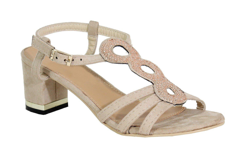 By Talon Carré Femme Style Daim Shoes Sandale FcKl1J
