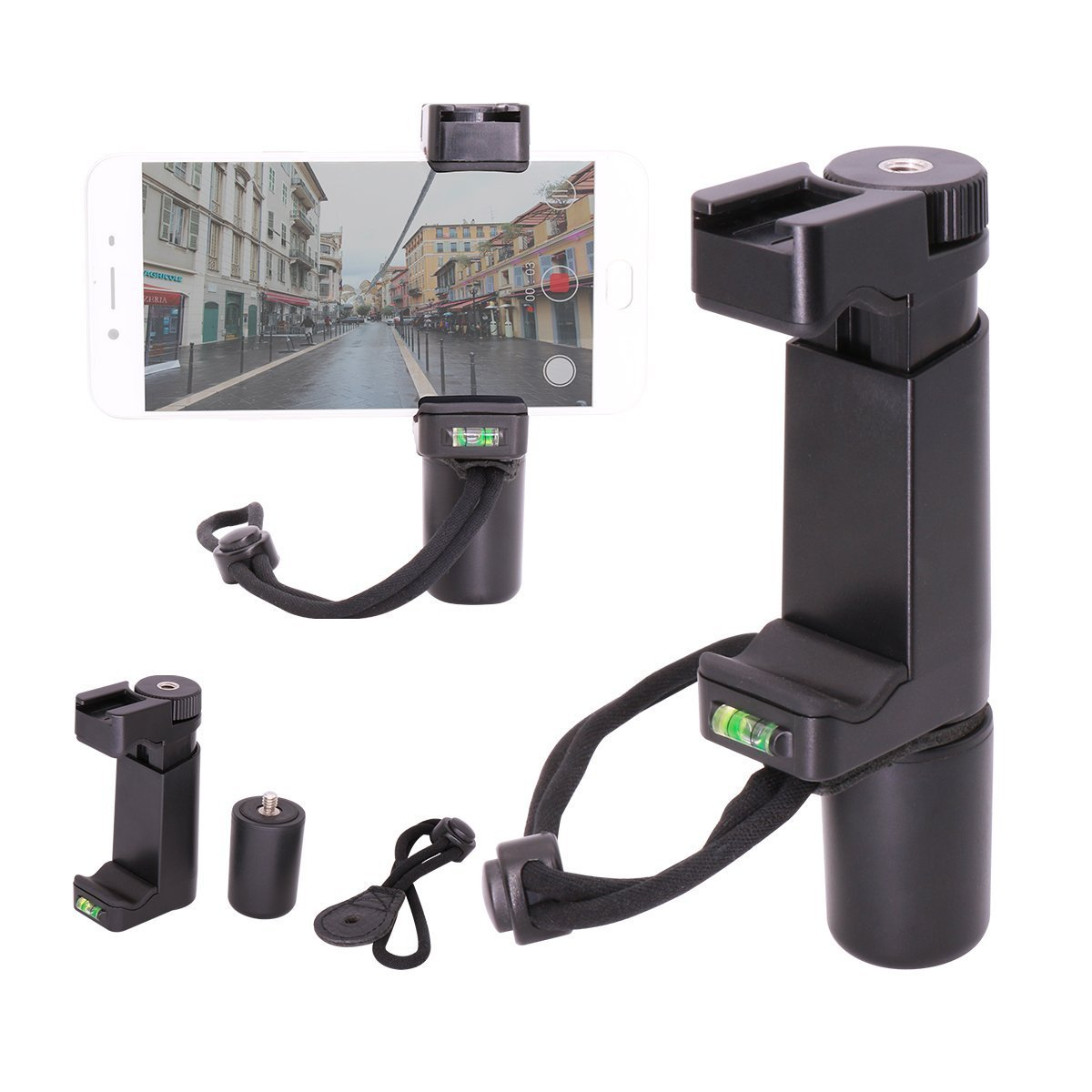 Ulanzi Teléfono Video Estabilizador Teléfono de Mano Smartphone Video Shooting Equipment para LED Video Light Shotgun Microphone Hot Shoe Filming para ...