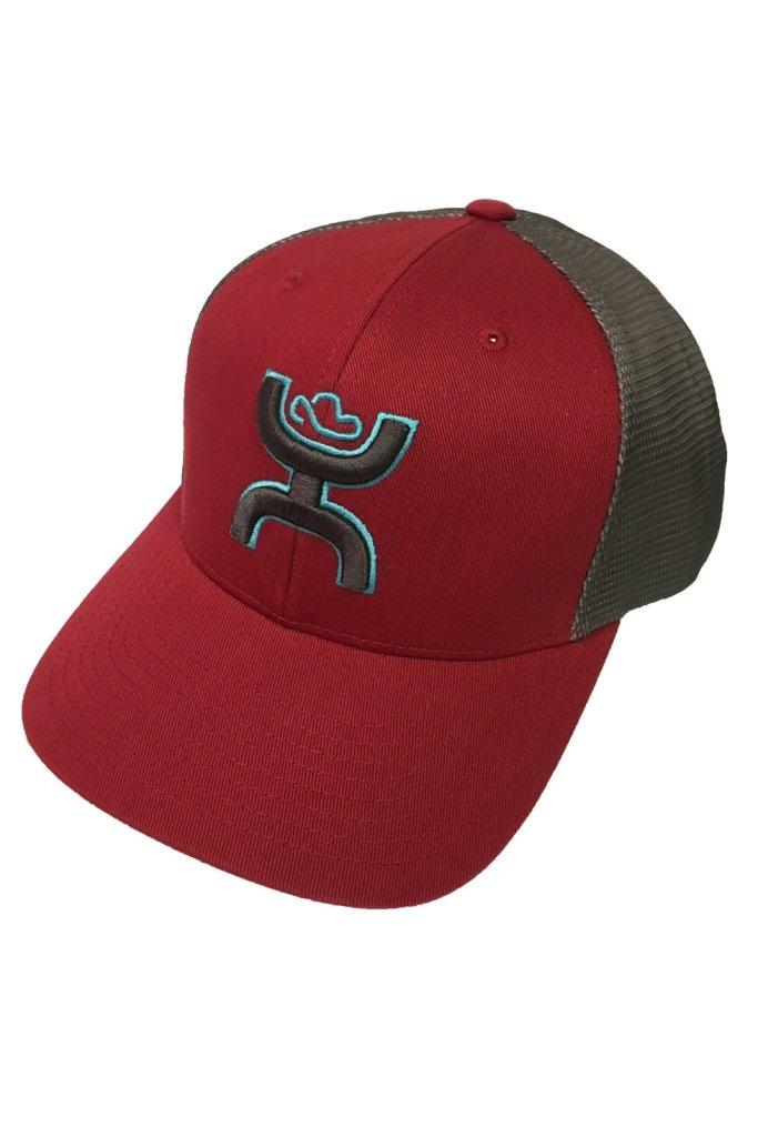 HOOey Brand Sterling Red/Brown Snapback Hat, YOUTH