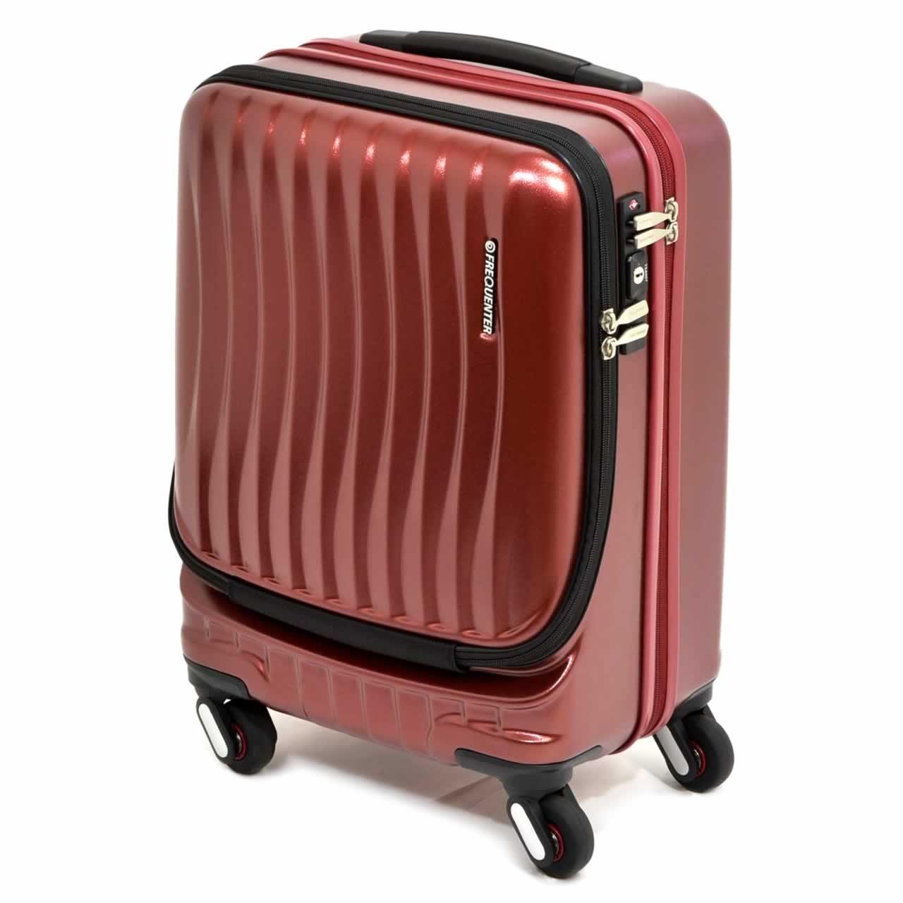 [FREQUENTER(フリクエンター)] スーツケース CLAM ADVANCE クラムアドバンス 46cm 34L 3.6kg 機内持ち込み 1-216  ワイン B07DR9QJ2T